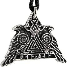 huginn and muninn pendant
