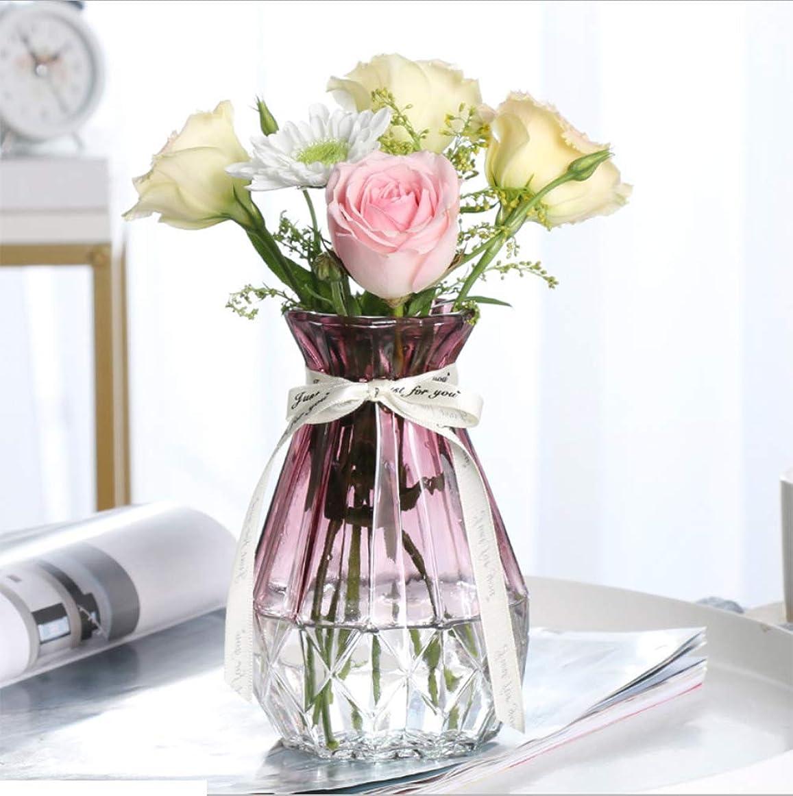 に賛成動物園追い付くHappydai 花瓶 ガラス瓶 インテリア 花器 花飾り (赤)