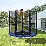 Merax - Trampolin Outdoor mit Sicherheitsnetz Außennetz und Einstiegsleiter Gartentrampolin (244 cm)