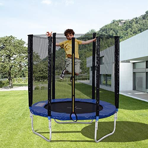Trampolin Cama elástica Trampolín para Niños Trampolín Al Aire Libre con Cerca De Seguridad Y Bares Acolchados para Adultos Niños Rebotar Entrenamiento Redondo Trampolín