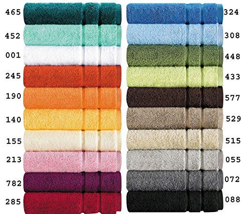 Egeria Handtücher Serie Prestige in Schwerer amerikanischer Qualität in 5 Größen und 20 Farben Größe 4 x Gästetucher 30x50 cm, Farbe 155 Ivory