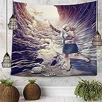 ホーム寮の壁の装飾タペストリー絵画アイインザスカイホール洞窟洞窟タペストリー壁掛けベッドスプレッドビーチタオルテーブルクロスヨガマットラージサイズ51x59インチ