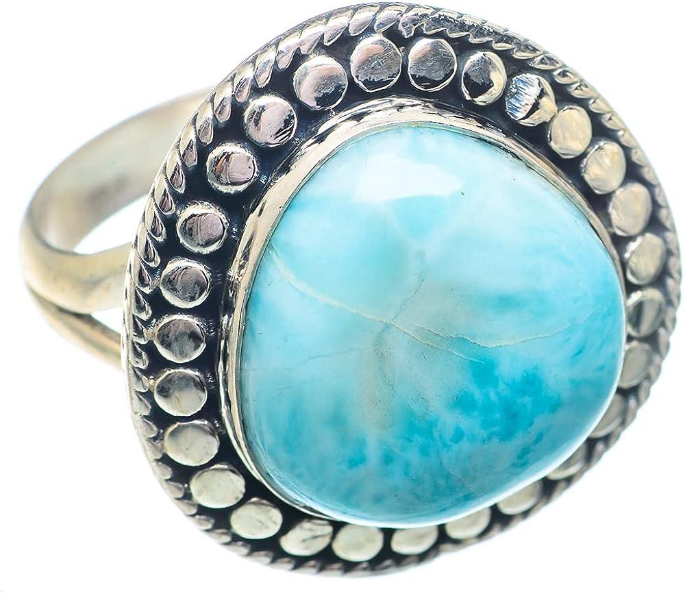 Ana Silver Co Larimar Superlatite Ring Size Sterling New item - Han 925 8.75