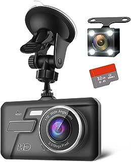 【最新版】 前後カメラ ドライブレコーダー 32GB SDカード付き デュアルドライブレコーダー1080PフルHD 1800万画素 LEDライト付き 170°広視野角 常時録画 G-sensor( WDR)日本語説明書付き