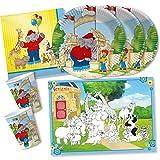 DH-Konzept Set da 42 pezzi – Elefante Benjamin Blümchen – piatti, bicchieri, tovagliette, per 6 – 8 bambini