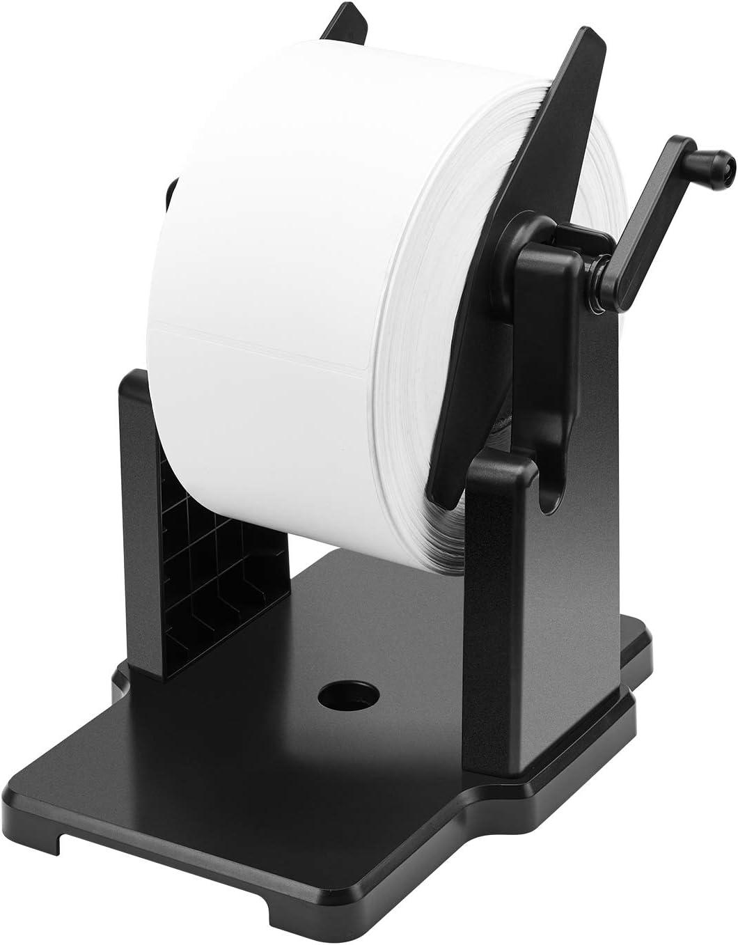 MUNBYN External Rolls Label Holder, 2 in 1 Fan-Fold Stack Paper Holder for Desktop Thermal Label Printer