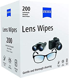 Zeiss iyKJrq Pre-Moistened Lens Cleaning Wipes, Pack of 200 (4 Pack)