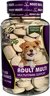 Primo Pup Adult Dog Multivitamin Vet Health | Supports Physical & Mental Wellbeing | Vet Formulated | Easy to Digest | No ...