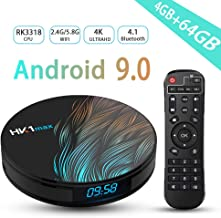 $47 » Android TV Box 9.0,RK3318 2.4G/5.8G Dual Band WiFi with Bluetooth 4.1 4GB RAM 64GB ROM Support HDMI/H.265 Streaming Media Player 3D 4K HDR Ultra HD Set Top TV Box