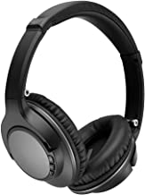 Active Noise Cancelling Headphones Bluetooth Headphones with Built-in Mic Wireless Headphones Over Ear, 25 Hours Playback, APT-X HiFi Stereo Sound Headphones for Android/Apple cellphones,TV/PC -Black