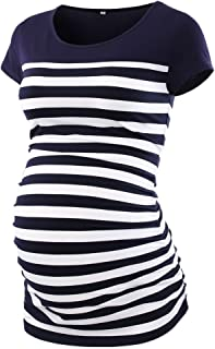 CareGabi Maternity Top Women's Short Sleeve Round Neck...