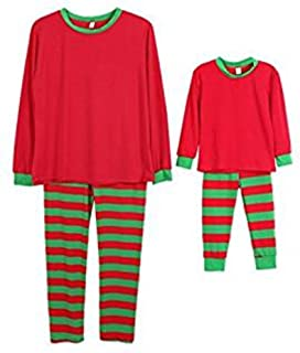 36cd05aa77 Q Y Holiday Stripe Matching Family Christmas Pajamas Set Homewear Outfits