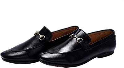 Hush Berry Designer Buckle Hand Stitched Formal Men Loafer Boots Shoes