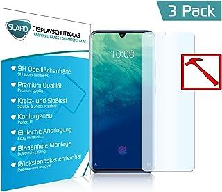 Slabo 3 x Premium skärmskydd i härdat glas för ZTE Axon 10 Pro äkta härdat glas klar 9H