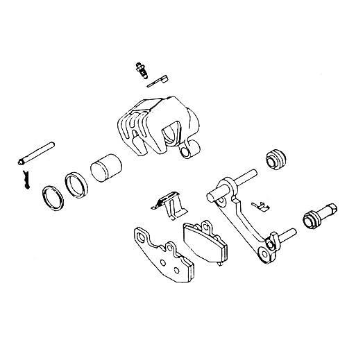 77-81 yamaha xs650: k&l brake caliper rebuild kit (front)