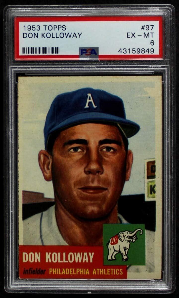 Easy-to-use 1953 Topps Ranking TOP9 # 97 Don Ca Athletics Baseball Philadelphia Kolloway
