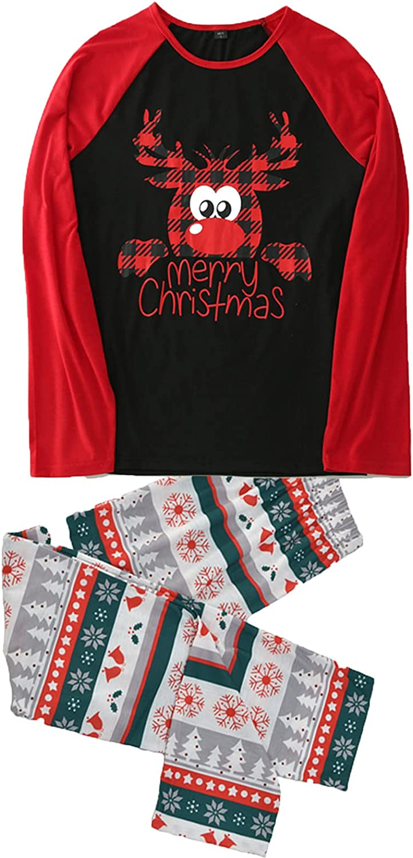 Matching Family Christmas Pajamas Set Christmas Pjs for family Set Red Top and Striped Long Pants Sleepwear Sets
