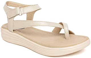 Bella Toes Women's/Ladies/Female's/Girl Synthetic Leather Casual Regular Sandal/Wedges/Fashion/Sandals/Fancy WEAR Casual F...
