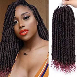 ENTRANCED STYLES 8 Packs Senegalese Twist Crochet Braids Curly End 14 Inches Havana Mambo Crochet Hair Extension Synthetic Spring Twist Crochet Hair for Women (TBug)
