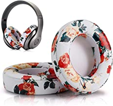 Replacement Ear Cushion Pads Cover Compatible with Beats Studio 2.0 Wireless Wired and Studio 3.0 Over Ear Headphones 1 Pair(Floral White)
