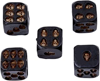 RICK-LIKE 5pcs/set Black Mini Death Skull Dice for Party Playing Drinking Death Table Game Party Tool