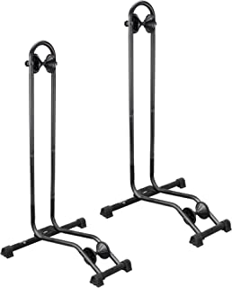 Bikehand 1-3 Bicycle Floor Type Parking Rack Stand - for Mountain and Road Bike Indoor Outdoor Nook Garage Storage