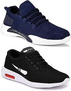 WORLD WEAR FOOTWEAR Men's Multicolor Sports Running Shoes (Set of 2)