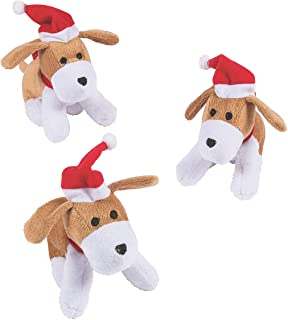 Fun Express Plush Christmas Dog - Toys - 12 Pieces