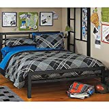 Black Full Size Metal Bed Platform Frame, Great Addition to any Kids or Boys Bedroom Set. Nice Bedroom Furniture. ON SALE NOW!!!! This Bedroom Beds Frames & Headboard Can Be Used with A Loft or Bunk Bed. Use w/ Your Bedding Furniture