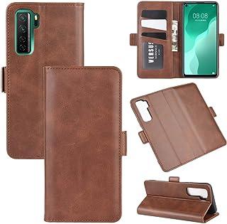 携帯電話保護ケース for Huawei Nova 7 SEデュアルサイドマグネティックバックルホリゾンタルフリップレザーケース、ホルダー&カードスロット&ウォレット付き 携帯電話シェル
