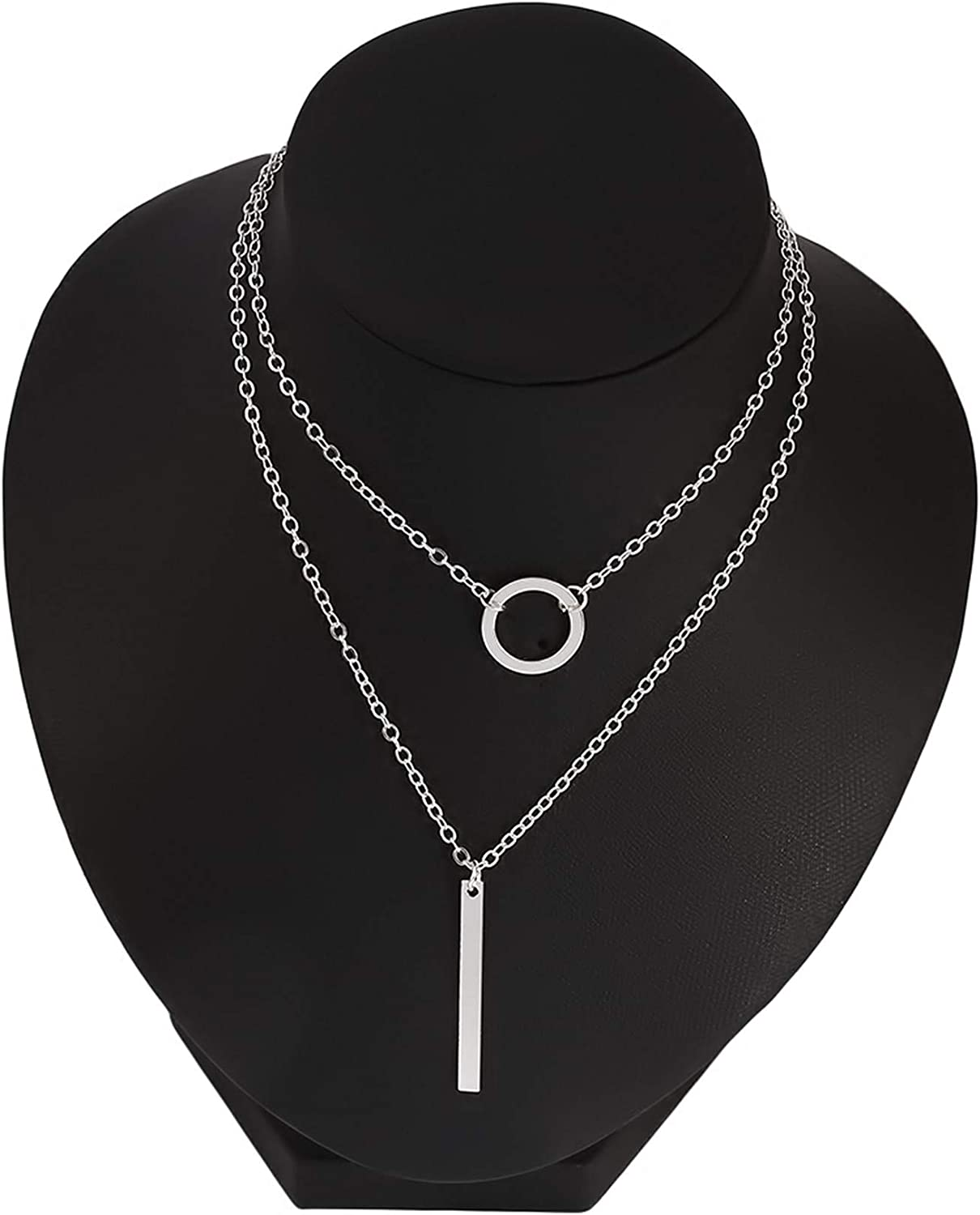 Airlove Bar Pendant Necklace Gold Long Y-Necklace Delicate Lariat Chain Jewelry for Women and Girls