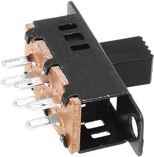 Interruptor deslizante - SODIAL(R) 10pzs perilla alta 6 pines 3 posiciones Interruptor deslizante de panel DPDT 0.5A 50V DC