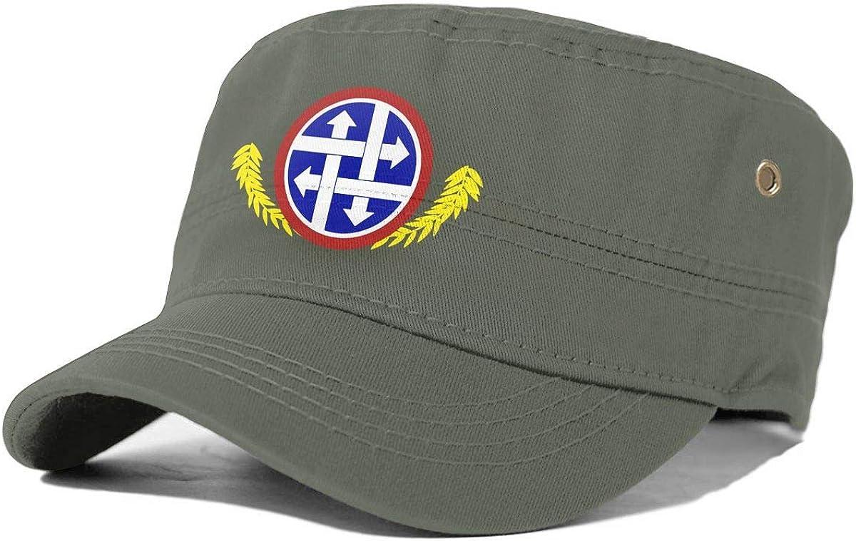 4th Sustainment CommandAdult Flat-Top Cap Army Hat Military Flat Top Baseball Cap