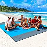 Beach Blanket, Picnic Blankets Sand Free 79''×83'' Oversized Beach Mat for 4-7 Adults, Lightweight Outdoor Blanket for Travel, Camping, Hiking (83''×79'')