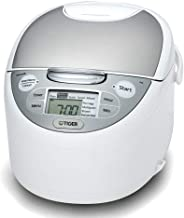 Tiger 5.5 cup JAX-S10A Multi-Functional Micro Computing Heating Rice Cooker, Slow Cooker, Food Steamer, Programmable Multi Cooker with LCD Display Made in Japan - Australian Model