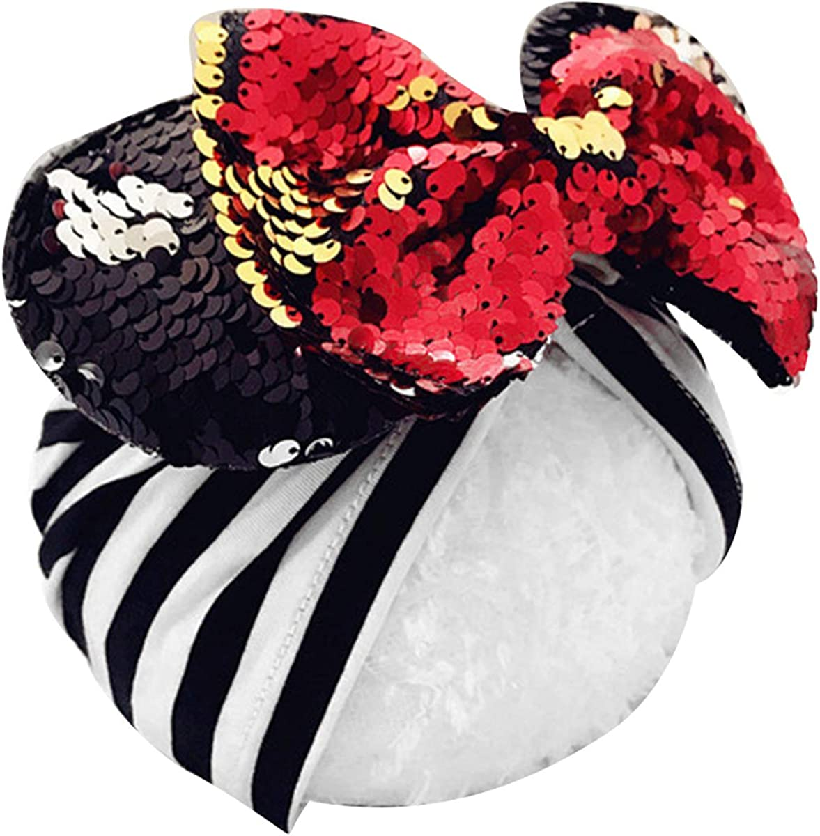 Mouse Ears Headband Hats Sequin New Orleans Mall Velvet Headwr Superior and Wide