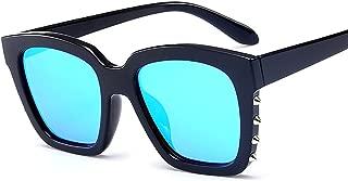 2018 new sunglasses men and women punk rivets retro sunglasses trend square color film glasses