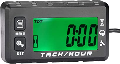 AIMILAR Digital Tach Hour Meter Tachometer - Gas Engine Maintenance Max RPM Recall Function for 2/4 Stroke Engines Chain Saw Snowblower Lawnmower ATV Boat Motorcycle Marine
