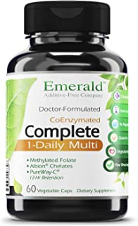 Complete 1-Daily Multi - Multivitamin Full of Coenzymes, Antioxidants, Folic Acid, & Vitamins - Supports Healthy Heart, Strong Bones, & Immune System - Emerald Labs - 60 Vegetable Capsules