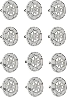 Zeckos Set of 12 White Cast Iron Compass Rose Cabinet Hardware Knobs Drawer Pull Handle