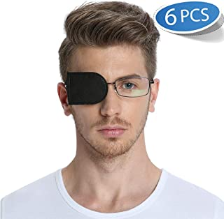FCAROLYN 6pcs Eye Patches for Glasses (Large,Black)