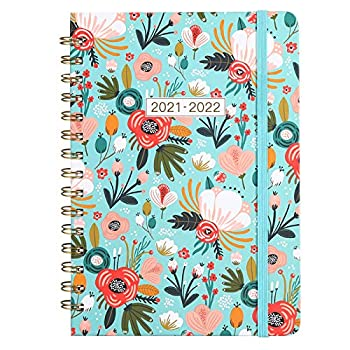 2021-2022 Planner - Academic Planner July 2021-June 2022 Weekly Monthly Planner 12 Months Planner with Hard Cover Elastic Closure Inner Pocket