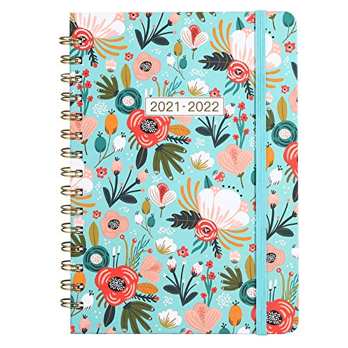 2021-2022 Planner - Academic Planner 2021-2022, July 2021 - June 2022, Weekly Monthly Planner, 6.4'' x 8.5'', Hard Cover with Elastic Closure, 12...