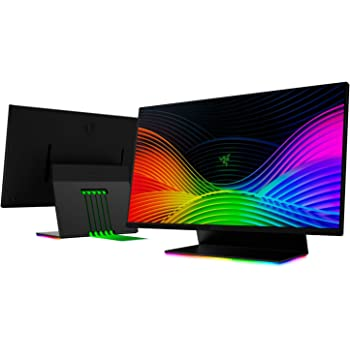 "Razer Raptor 27"" Gaming Monitor: WQHD (2560x1440) - IPS-Grade - 144Hz - 1ms Response - HDR 400 - NVIDIA G-Sync Compatible & AMD FreeSync - Solid Aluminum Base - Razer Chroma RGB - 5 Flat Cables in Box"