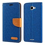 Alcatel Flash Plus 2 Case, Oxford Leather Wallet Case with