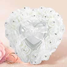 Ring Box, Ring Case, Compact Design for Wedding Home(white)