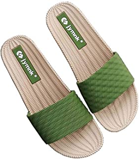 Women's Thick Linen Soles, Home Indoor Floor Slippers, Breathable Sweat-Absorbent Antibacterial Anti-Skid Sandals And Slippers