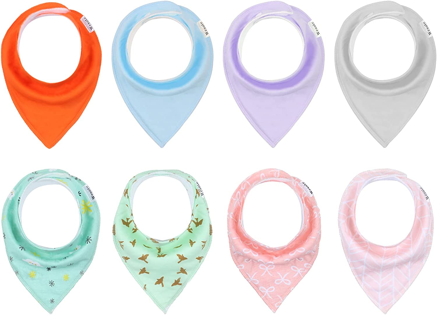 Baby Bandana Drool Discount mail order Bibs 8 Boston Mall Pack Absorbent Soft by Teet and WESOTE