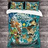 Wa-Kfu - Juego de cama de 3 piezas, 218,4 x 70, juego de edredón de 218,4 x 70, juego de funda de edredón suave con 1 funda de edredón y 2 fundas de almohada para dormitorio y habitación