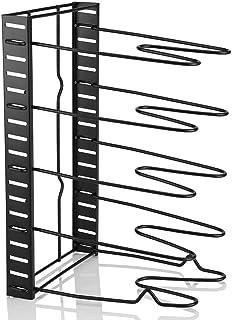 Fictory Organizador de ollas - Tiers de múltiples Niveles Sartén para ollas Tapa de Almacenamiento Organizador de Cocina Utensilios de Cocina Soporte de Soporte